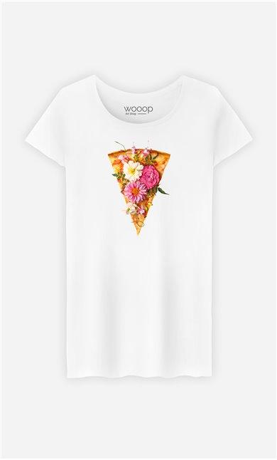 T-Shirt Femme Floral Pizza