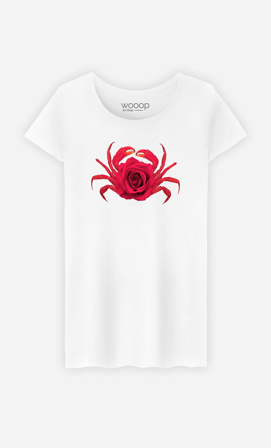 T-Shirt Femme Rose Crab