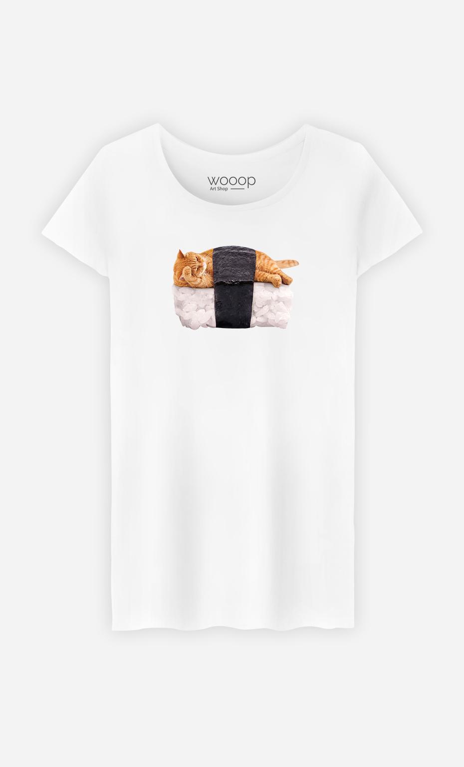 T-Shirt Femme Sushi Cat