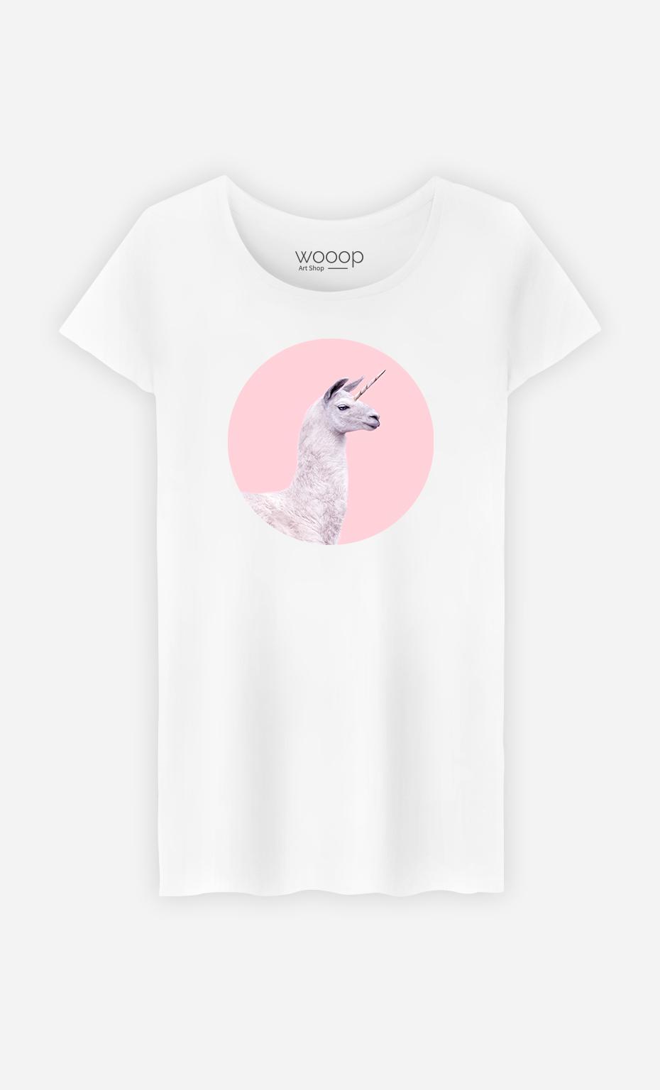 T-Shirt Femme Unicorn Lama