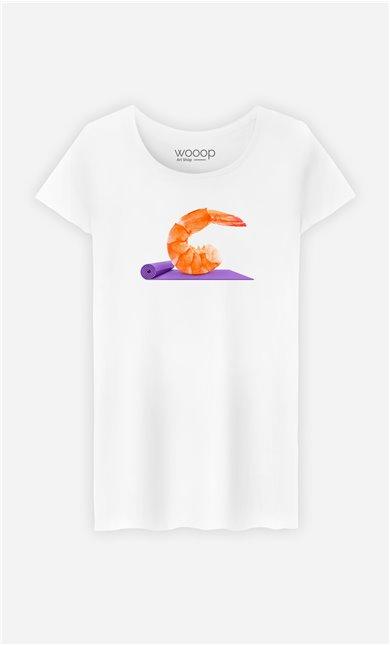 T-Shirt Femme Yoga Shrimp