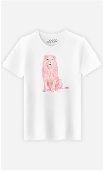 T-Shirt Homme Pink Lion