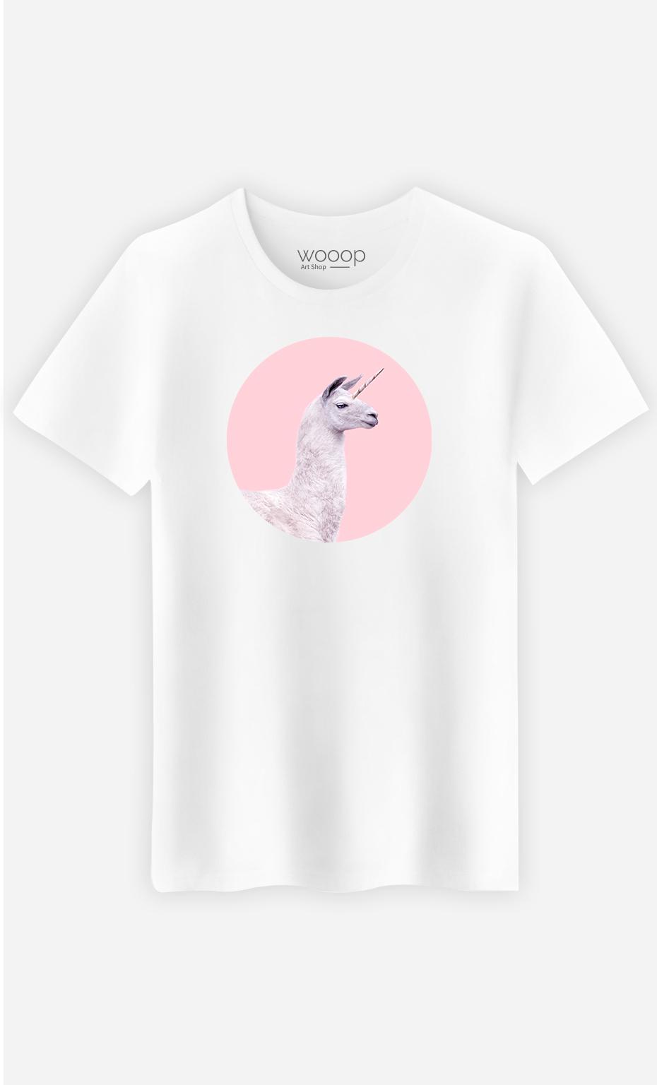 T-Shirt Homme Unicorn Lama