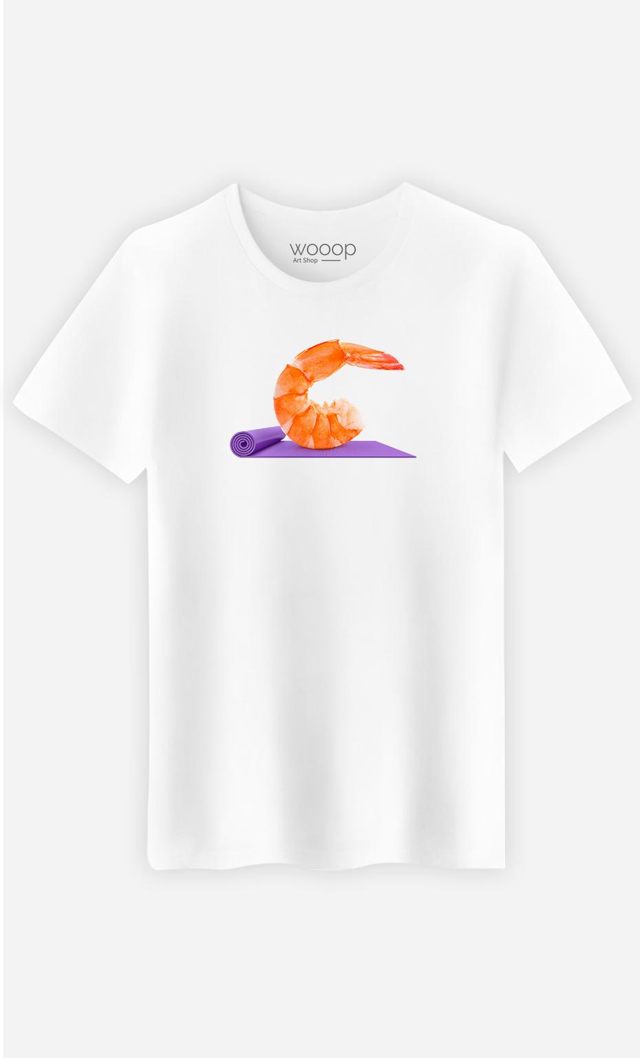 T-Shirt Homme Yoga Shrimp