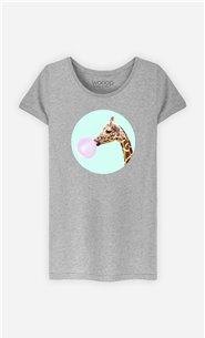 T-Shirt Femme Giraffe