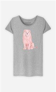 T-Shirt Femme Pink Lion