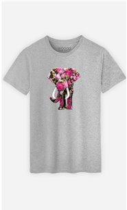 T-Shirt Homme Floral Elephant