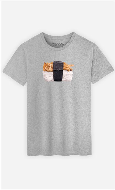T-Shirt Homme Sushi Cat
