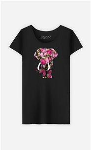 T-Shirt Femme Floral Elephant