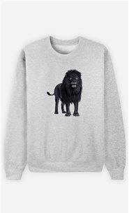 Sweatshirt Femme Black Lion