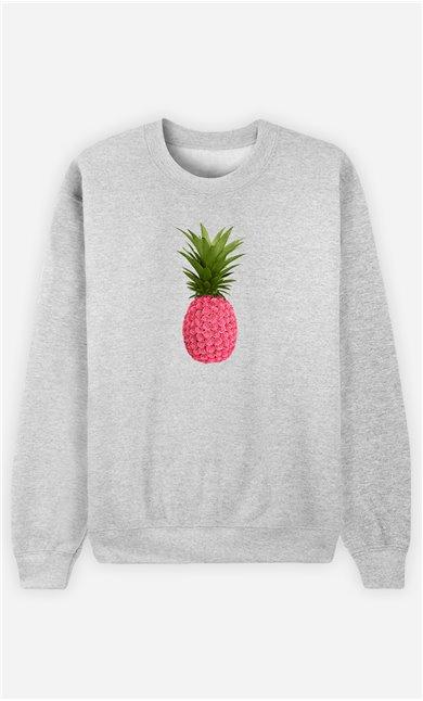 Sweatshirt Femme Floral Pineapple