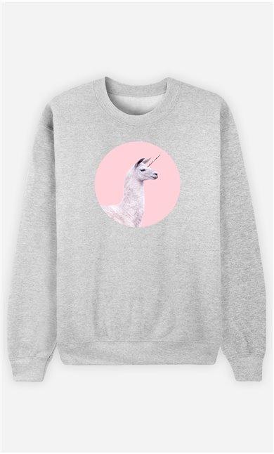 Sweatshirt Femme Unicorn Lama