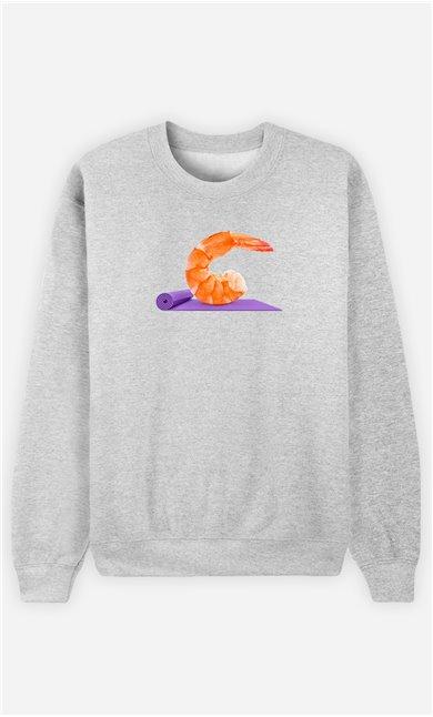 Sweatshirt Femme Yoga Shrimp