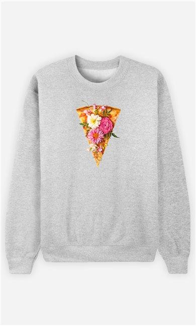 Sweatshirt Homme Floral Pizza
