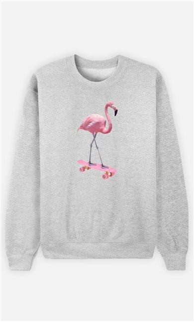 Sweatshirt Homme Skate Flamingo