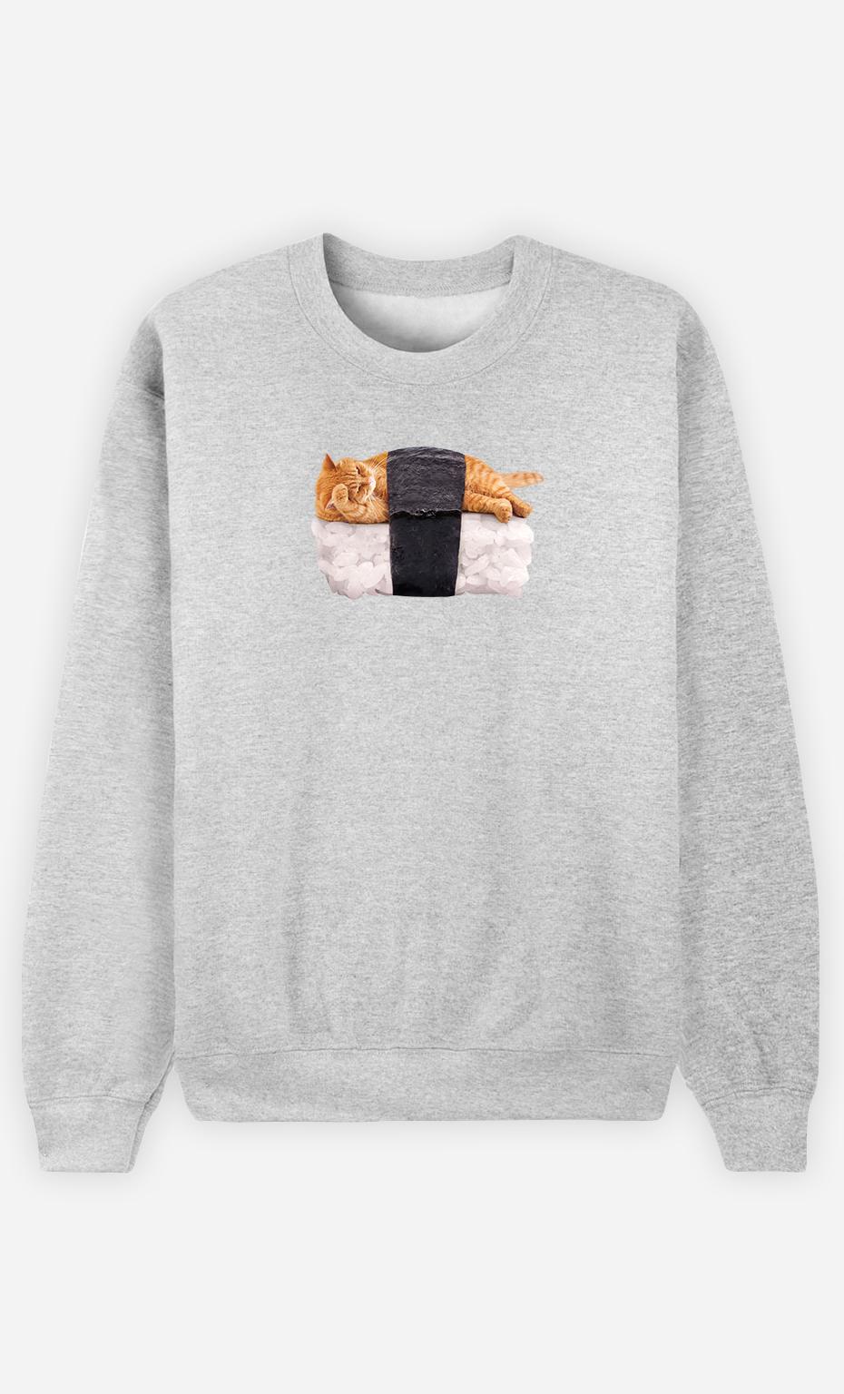 Sweatshirt Homme Sushi Cat