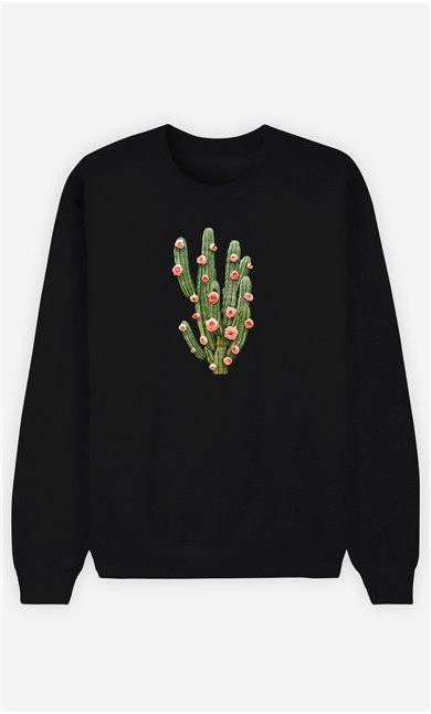 Sweatshirt Femme Cactus And Roses