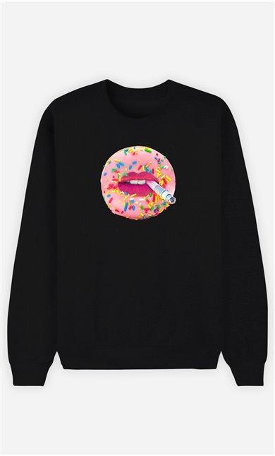 Sweatshirt Femme Donut Smoke