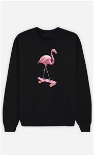 Sweatshirt Femme Skate Flamingo