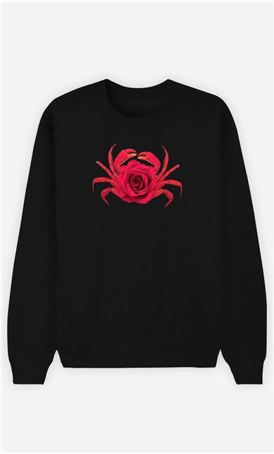 Sweatshirt Homme Rose Crab