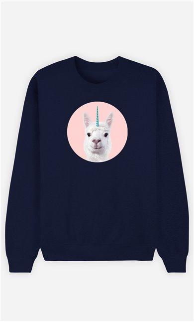 Sweatshirt Femme Alpaca Unicorn