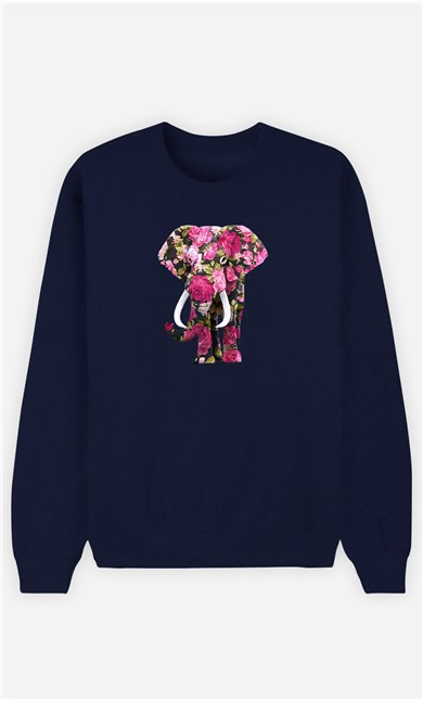 Sweatshirt Femme Floral Elephant