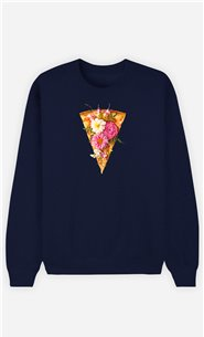 Sweatshirt Femme Floral Pizza