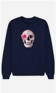 Sweatshirt Femme Skull Pink