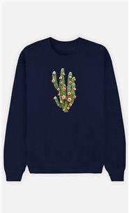 Sweatshirt Homme Cactus And Roses