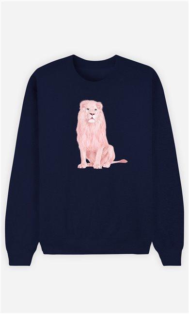 Sweatshirt Homme Pink Lion