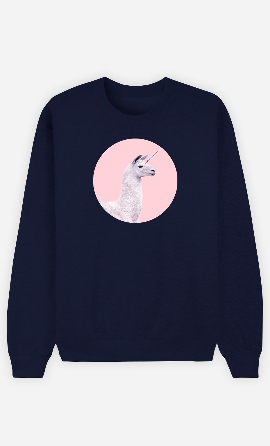 Sweatshirt Homme Unicorn Lama