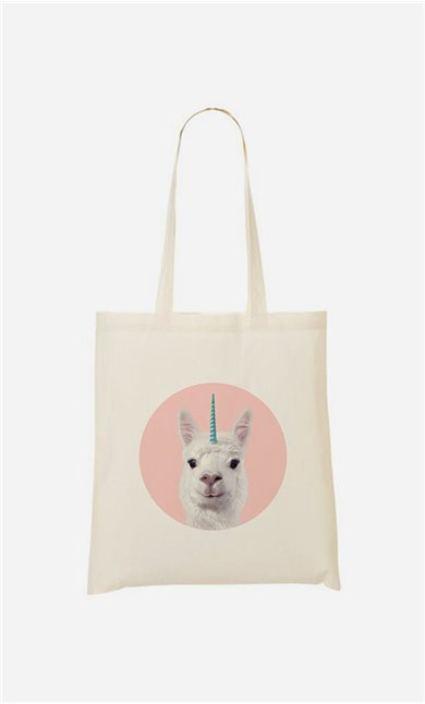 Tote bag Alpaca Unicorn