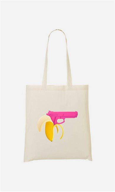 Tote bag Banana Gun
