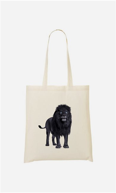 Tote bag Black Lion