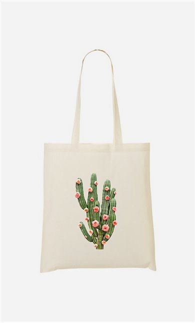 Tote bag Cactus And Roses