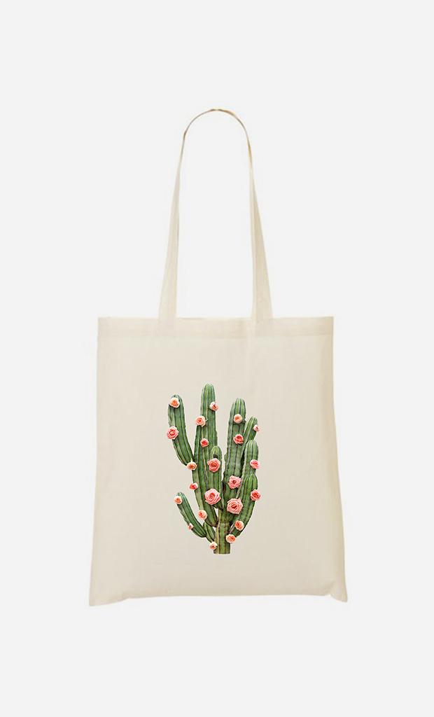 Tote bag Cactus And Roses