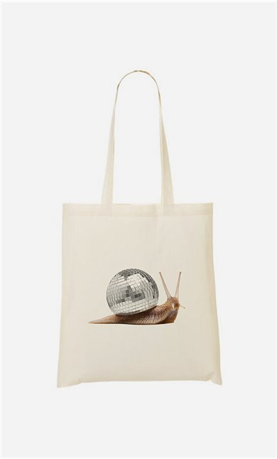 Tote bag Disco Snail