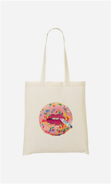 Tote bag Donut Smoke