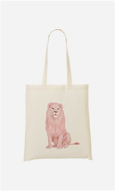 Tote bag Pink Lion
