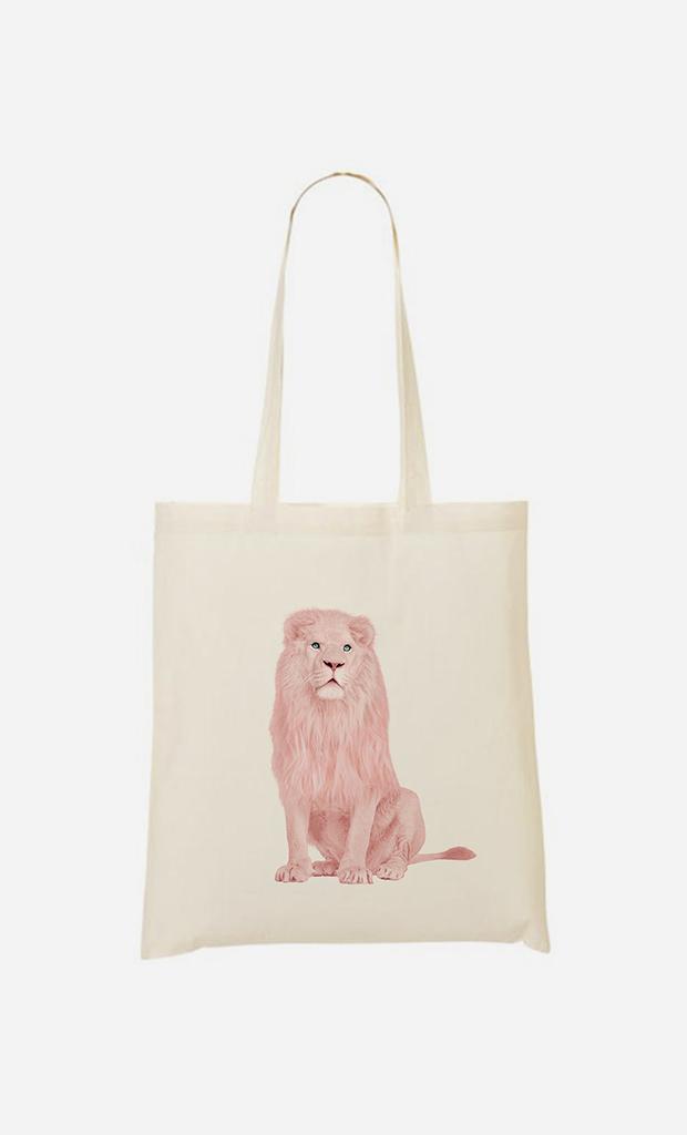 Tote bag Pink Lion