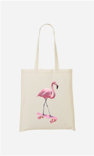 Tote bag Skate Flamingo