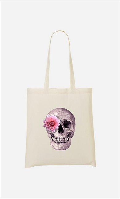 Tote bag Skull Pink