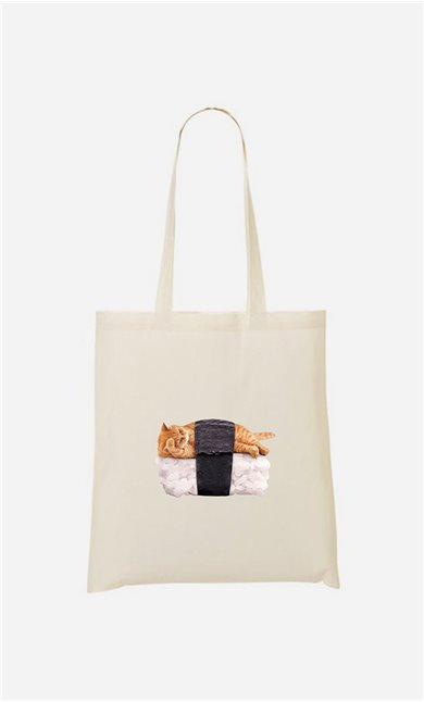 Tote bag Sushi Cat