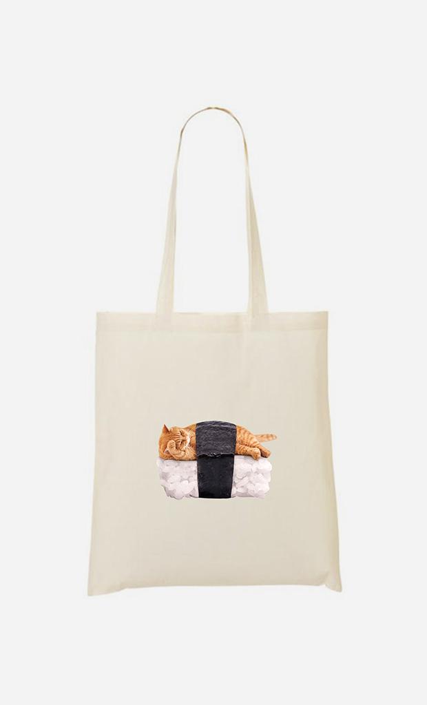 Tote bag Sushi Cat
