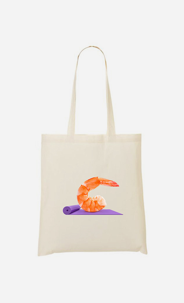 Tote bag Yoga Shrimp