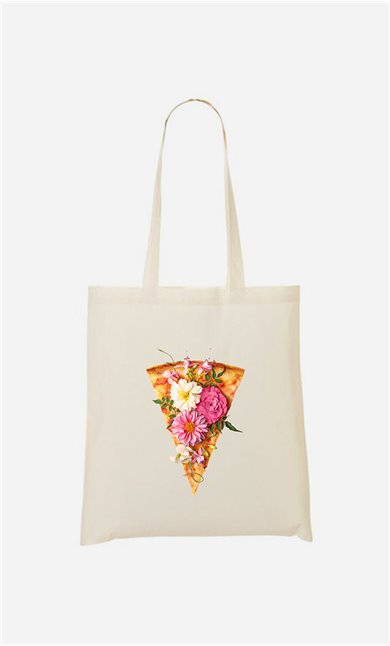 Tote bag Floral Pizza