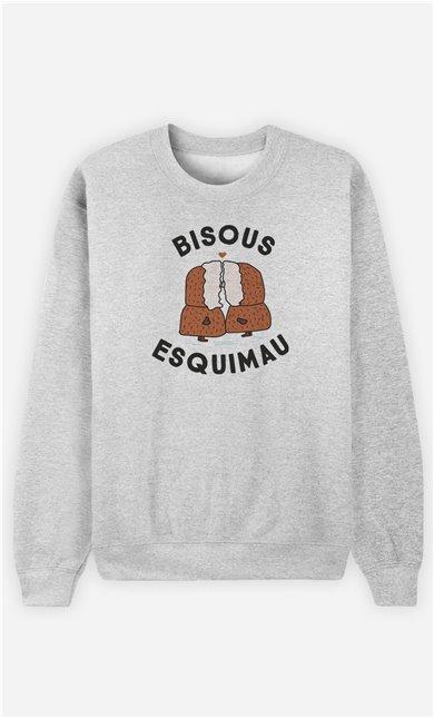 Sweatshirt Femme Bisou Esquimaux