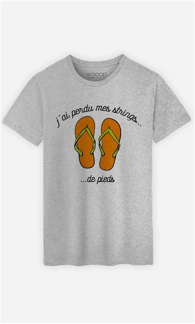 T-Shirt Homme Strings de pieds