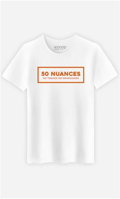 T-Shirt Homme 50 Nuances de Traces de Bronzage