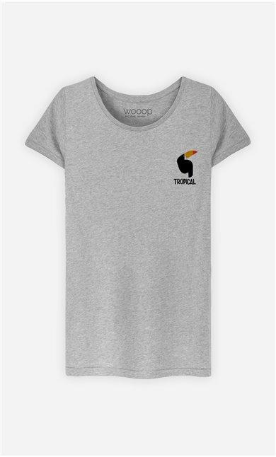 T-Shirt Femme Tropical